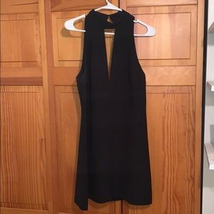 Express formal black mini dress
